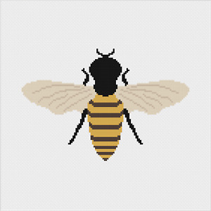 Bumble Bee Insect Cross Stitch Pattern by Meloca Designs