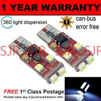 2x W5W T10 501 Canbus Nessun Errore BIANCHE 6 SMD LAMPADE LUCI POSIZIONE LED