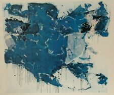 """SAM FRANCIS """"BLUE OUT OF WHITE"""" SMALL COLOR LITHOGRAPH"""