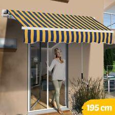 Tenda Sole Balcone a Bracci Estensibili Parasole Avvolgibile Esterno 195cm Giall