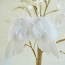 5pc White Vintage Feather Hanging Angel Wings Christmas Tree Wedding Wall Decor