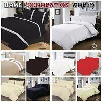 3Pcs Luxury Duvet Set Quilt Cover Pillow Cases Bedding Set All sizes