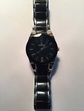 Festina Ceramic Two Tone Black Dial Stainless Steel Ladies' Watch - F16534