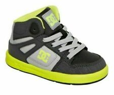 DC Rebound Ul Mid Hi Grey Black Yellow Toddler Boy Shoes Size 5 New Authentic
