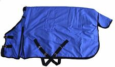 "74"" 600-D Turnout Waterproof Rain Horse SHEET Light Winter Blanket Gusset Royal"