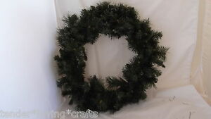 """24"""" WREATH~3 KINDS OF GREEN PINE~LIGHT GLITTER~XMAS~CRAFTS,DECORATE YOURSELF"""