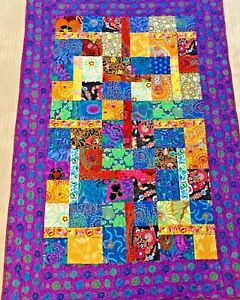 "Quilt With Kaffe Fassett Fabric  52"" x 36""   $99.00  OBO"