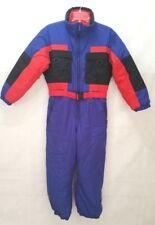 Vintage Fera Skiwear Juniors Size 14 Ski Coveralls & Belt Purple & Red Snowsuit