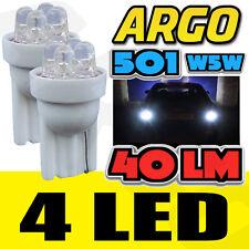 4 LED XENON WHITE QUAD 501 T10 W5W SIDELIGHT BULBS TOYOTA LAND CRUISER 4X4