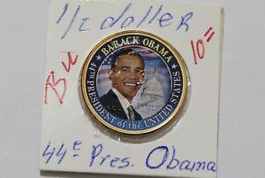 USA OBAMA HALF DOLLAR GOLD PLATED B38 WU1