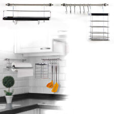 Küchenreling Edelstahl Reling System Küchenrollenhalter Küchenleiste mit Haken