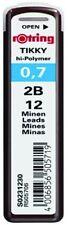 Rotring Tikky Lead Refill 0.7mm 2B Hi Polymer Mechanical Pencil Pack 12 Black