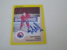 ROY MITCHELL AUTOGRAPHED 1989 AHL PROCARDS CARD-SHERBROOKE CANADIENS