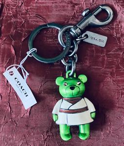Coach Star Wars X Coach Yoda Bear Bag Charm Keychain F78817 $98 NEW