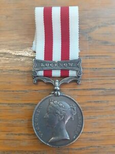 VICTORIAN INDIAN MUTINY MEDAL WITH LUCKNOW CLASP WILLIAM TUTTY 34TH REGIMENT