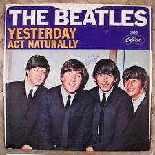 Beatles Yesterday West Coast Picture Sleeve w/ 45