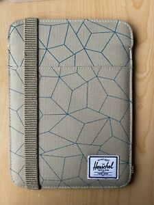 Herschel iPad Mini Cypress Sleeve Case in Tan/Beige/Brown Geometric Print