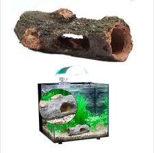 Artificial Fish Tank Decoration Cave Barrel Resin Ornament Landscaping Deco A059