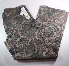Waist Size 36 Pants by TRIKO Women's Green Brown Floral LOBO PANT SUTRA Dress