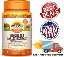 ODORLESS GARLIC EXTRACT 1000 mg Heart Health Support Circulation 250 Softgels