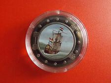 *Selten!Somalia 25 Shillings 2001 *Segelschiff Half Monn /Farbe (Schub56)