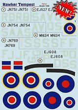 Print Scale 48-126 Decal for Hawker Tempest Part-2 1:48