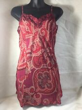 VICTORIA'S SECRET VINTAGE NEGLIGEE SLIP DRESS Sheer w/ Lace Medium
