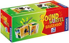 KOSMOS 697365 Soundwürfel Bauernhof Lernspielzeug Geräusche Motorik ab 2 Jahre