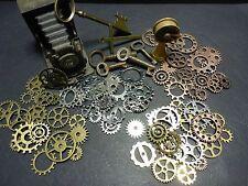 20 Steam Punk Vintage Cogs Gears 10 - 30 mm Bronze Copper Gold Silver Gunmetal
