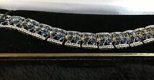 Blue - Violetish Tanzanite and White Topaz Bracelet 925 Silver - Beautiful