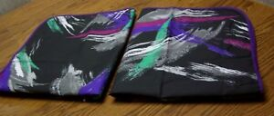 "Pair Multi-color Geometric Print Queen Pillow Shams/Poly Blend/31"" x 27"""