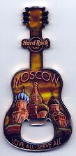 Hard Rock Cafe MOSCOW V8 St.Basil's Cathedral City Guitar Magnet Bottle Opener