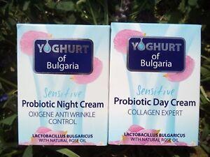 set-Day&Night probiotic cream 50ml/1.68,ROSE&YOGHURT of Bulgaria, with rose oil