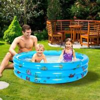 Inflatable Paddling Pool Swimming Pool for Kid Family Outdoor Garden Play Fun Bl