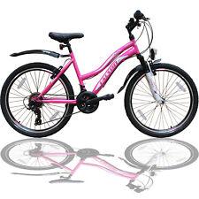 24 Zoll Mountainbike 21Gang SHIMANO Kinder Fahrrad - Beleuchtung - Federung Rosa