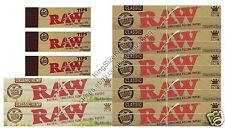 RAW KINGSIZE ROLLING PAPERS CLASSIC + RAW ORGANIC + RAW TIPS HEMP SET