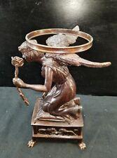 Vintage Maitland Smith Bronze Angel Centerpiece Decor