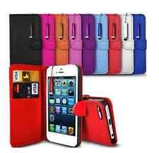 Pour Iphone 4/5/5C/6/7/8/7 PLUS/X Housse Portefeuille Cuir PU + 1 verre trempé
