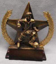 male Soccer star trophy resin gold tone Star318