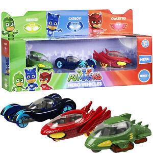 PJ Hero Vehicles Metal Cars 3 Pack Kids Toy Series AA031 Children Birthday Gift