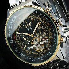 Jaragar Luxury Stainless Steel Tourbillon Automatic Mechanical Men Date Watches