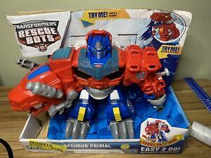 Transformers Playskool Rescue Bots Optimus Primal - In box