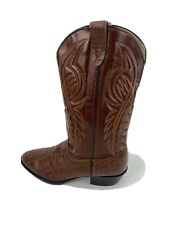 Bronco Size 9 D Western Cowboy Boots Brown Synthetic  WM 1944 Vintage