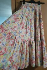 Laura Ashley Vintage Floral Tiered Gypsy Skirt Size Medium