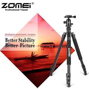 ZOMEI Q555 Professional Travel Aluminium Tripod&Ball Head For Canon Nikon Camera