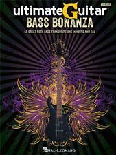Ultimate Guitar Bass Bonanza Play Rock Pop Chart Hits Songs Tunes Tab MUSIC BOOK