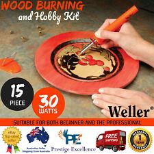 Weller Pyrography Wood Burning and Hobby Kit 15 Piece Craft Art Tool Burner Set