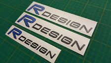 Volvo V40 S60 C30 V70 V50 T5 R Design (Black) decals Stickers any colour
