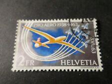 SUISSE, 1963 timbre 45 AERIEN, AVION, oblitéré, VF used