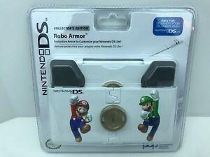 Nintendo DS Lite NDSL Mario Luigi Robo Armor White Protective Case NEW